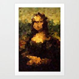 Pixelated Mona Lisa Art Print