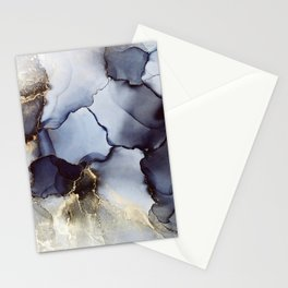 Abstract hand painted alcohol ink texture Stationery Cards