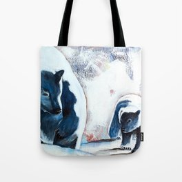 Bears - Don't be afraid, I'll show you the way... by LiliFlore Tote Bag