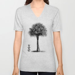 palm tree botanical no1 Unisex V-Neck
