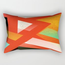 Red and Orange Abstract 1 Rectangular Pillow
