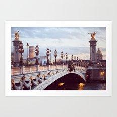 Pont Alexandre III Paris. Art Print