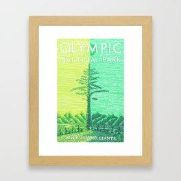 Olympic National Park tribute poster Framed Art Print