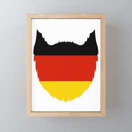 German Flag Beard Oktoberfest Framed Mini Art Print