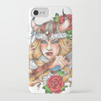 viking iPhone & iPod Cases featuring Viking by Little Lost Forest