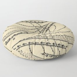 River Formation Diagram Floor Pillow