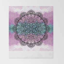 Om Mani Padme Hum Mandala Throw Blanket