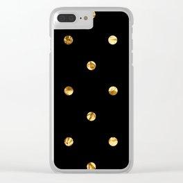 Black & Gold Clear iPhone Case