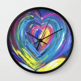 Heart by Sheila Fein Fantasy Pop Wall Clock