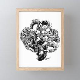Lonely Hydra Framed Mini Art Print