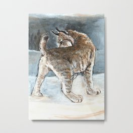 Canadian Lynx in Winter Metal Print