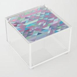 Triangle Pattern no.3 Violet Acrylic Box