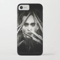 edward scissorhands iPhone & iPod Cases featuring Edward Scissorhands by Whitney Wilkinson