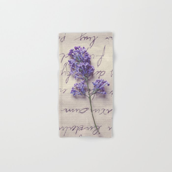 Love Letter With Lilac Hand & Bath Towel