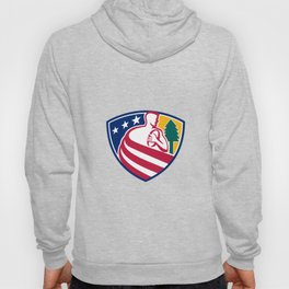 American Rugby Union Player Badge Hoody