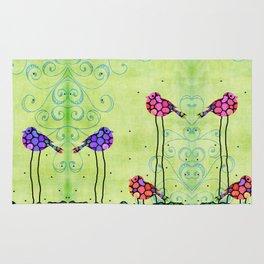 Three Birds - Spring Art By Sharon Cummings Rug