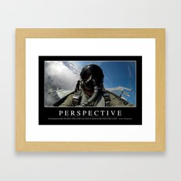 Perspective: Inspirational Quote and Motivational Poster Framed Art Print
