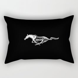 Mustang black Rectangular Pillow