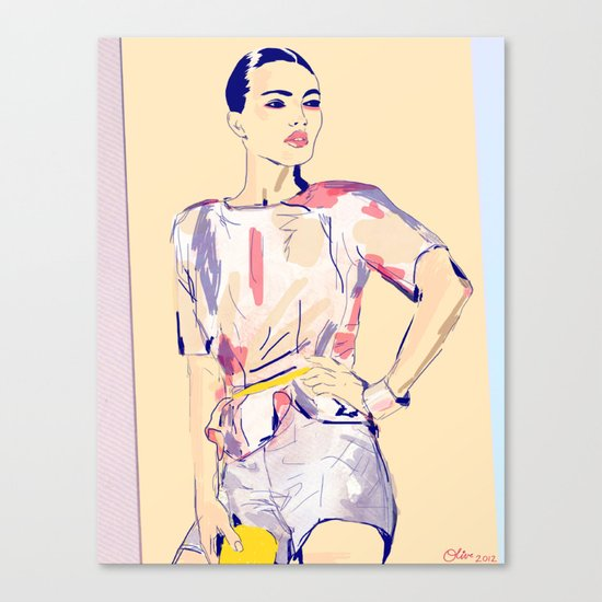 Fierce and Free /// Jessie Canvas Print