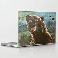 teddy bear Laptop & iPad Skins featuring TEDDY by Tina Yu