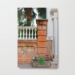Charleston Walls XIV Metal Print