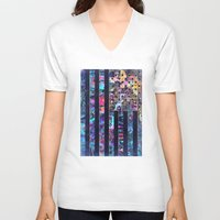 usa V-neck T-shirts featuring USA by Bekim ART