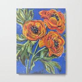 Ranunculus Floral Metal Print