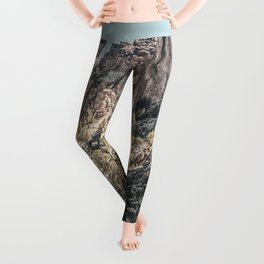 Vintage Smith Rock State Park // River and Rocks Scenic Hiking Landscape Photograph Leggings