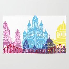 Kolkata skyline pop Rug