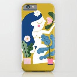 Blue Plant Lady iPhone Case