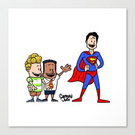 Super captain underpants Canvas Print
