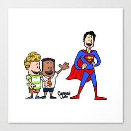 Super captain underpants Canvas Print