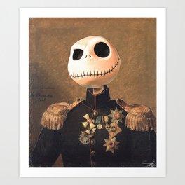 Jack Skellington General Portrait Painting | Fan Art Art Print