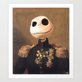 jack skellington general portrait painting fan art art print