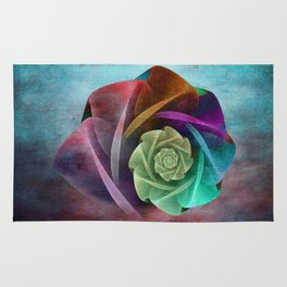 Abstract Rose Rug