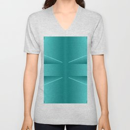 Today's colorplay with turquoise ... Unisex V-Neck