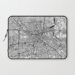 Houston White Map Laptop Sleeve