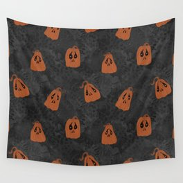 Somber-Pumpkins Wall Tapestry