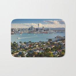 Auckland city New Zealand landscape Bath Mat