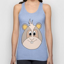 Drawing cartoon of a funny looking guinea pig Unisex Tank Top