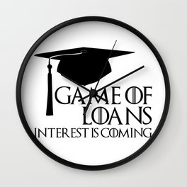 Game of Loans Wall Clock