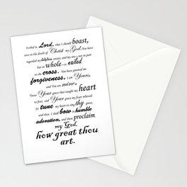 Prayer of Hymns Stationery Cards