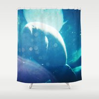 manatee Shower Curtains featuring Manatee by Emily