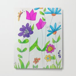 Wildflowers Metal Print