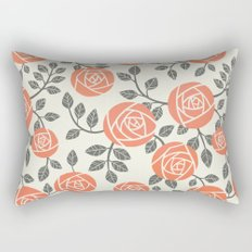 Retro roses Rectangular Pillow
