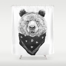 Wild bear Shower Curtain