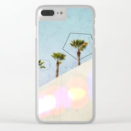 Levitated Mass (Blue) Clear iPhone Case