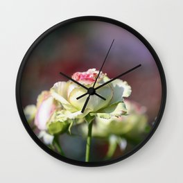 Yellow Roses in the Sunlight Wall Clock