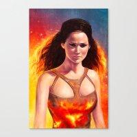 katniss Canvas Prints featuring Katniss by Strannaya Anna