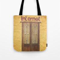 internet Tote Bags featuring Internet by Nina's clicks